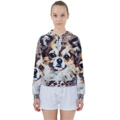Chihuahua Dog Cute Pets Small Women s Tie Up Sweat