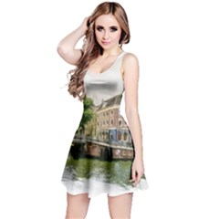 Amsterdam Holland Canal River Reversible Sleeveless Dress