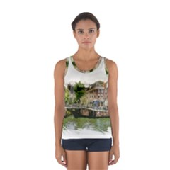 Amsterdam Holland Canal River Sport Tank Top