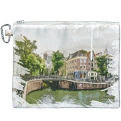 Amsterdam Holland Canal River Canvas Cosmetic Bag (xxxl)
