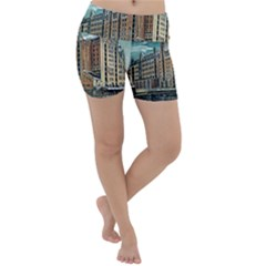 Architecture City Building Travel Lightweight Velour Yoga Shorts