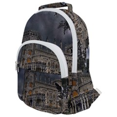 Castle Mansion Architecture House Rounded Multi Pocket Backpack