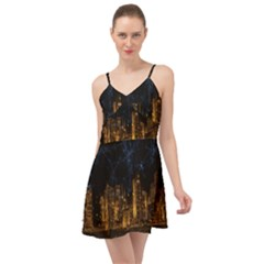 Architecture Buildings City Summer Time Chiffon Dress