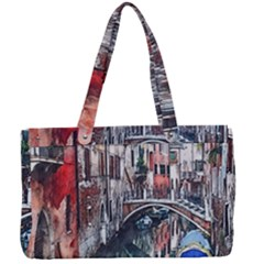 Venice Water Laguna Italy Canvas Work Bag by Wegoenart