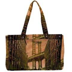 Architecture Buildings City Bridge Canvas Work Bag by Wegoenart