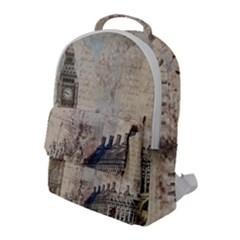 London Westminster Bridge Building Flap Pocket Backpack (large)