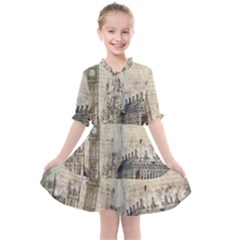 London Westminster Bridge Building Kids  All Frills Chiffon Dress by Wegoenart