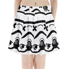 Sloth Art Graffiti Pop Art Pleated Mini Skirt