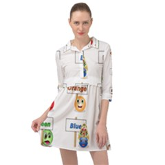 Graphic Smiley Color Diagram Mini Skater Shirt Dress by Bejoart