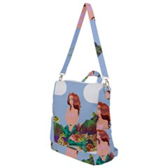 Graphic Mermaid Water Ocean Sea Crossbody Backpack