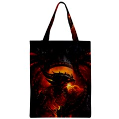 Dragon Fire Fantasy Art Zipper Classic Tote Bag by Bejoart