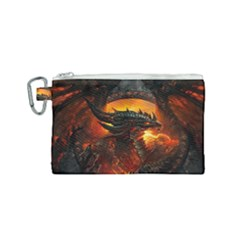 Dragon Fire Fantasy Art Canvas Cosmetic Bag (small) by Bejoart