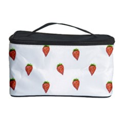 Cartoon Style Strawberry Pattern Cosmetic Storage