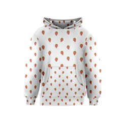 Cartoon Style Strawberry Pattern Kids  Pullover Hoodie