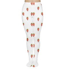 Cartoon Style Strawberry Pattern Tights