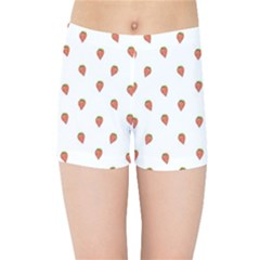 Cartoon Style Strawberry Pattern Kids  Sports Shorts