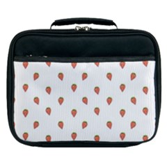 Cartoon Style Strawberry Pattern Lunch Bag by dflcprintsclothing