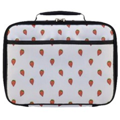 Cartoon Style Strawberry Pattern Full Print Lunch Bag