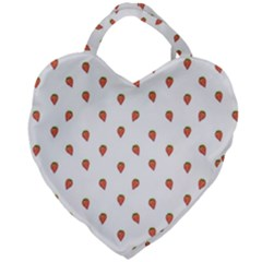 Cartoon Style Strawberry Pattern Giant Heart Shaped Tote by dflcprintsclothing
