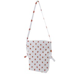 Cartoon Style Strawberry Pattern Folding Shoulder Bag by dflcprintsclothing