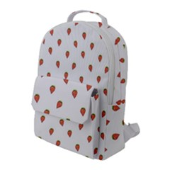 Cartoon Style Strawberry Pattern Flap Pocket Backpack (large)