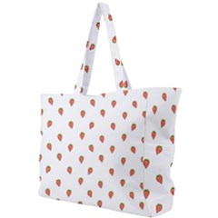 Cartoon Style Strawberry Pattern Simple Shoulder Bag by dflcprintsclothing