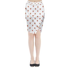 Cartoon Style Strawberry Pattern Midi Wrap Pencil Skirt by dflcprintsclothing