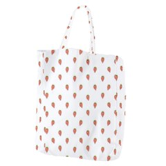 Cartoon Style Strawberry Pattern Giant Grocery Tote