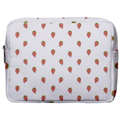 Cartoon Style Strawberry Pattern Make Up Pouch (large)