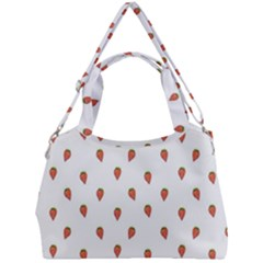 Cartoon Style Strawberry Pattern Double Compartment Shoulder Bag by dflcprintsclothing