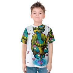 Grand Master Oogway, Master Turtle Kids  Cotton Tee