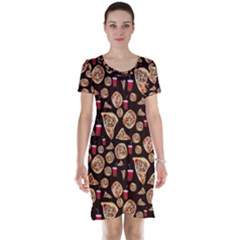 Pizza Pattern Short Sleeve Nightdress by bloomingvinedesign