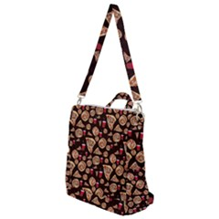 Pizza Pattern Crossbody Backpack by bloomingvinedesign