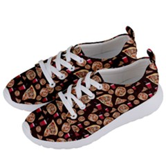 Pizza Pattern Women s Lightweight Sports Shoes by bloomingvinedesign