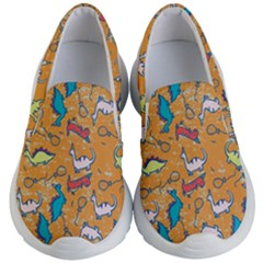 Dinosaurs Pattern Kids  Lightweight Slip Ons by NiOng