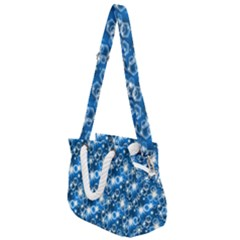 Star Hexagon Deep Blue Light Rope Handles Shoulder Strap Bag by Jojostore