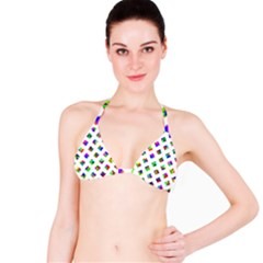 Rainbow Lattice Bikini Top