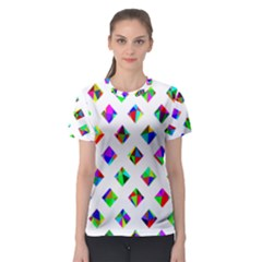 Rainbow Lattice Women s Sport Mesh Tee