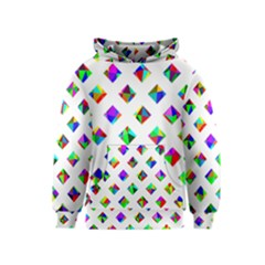 Rainbow Lattice Kids  Pullover Hoodie by Mariart