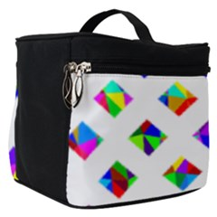 Rainbow Lattice Make Up Travel Bag (small)