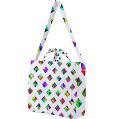 Rainbow Lattice Square Shoulder Tote Bag by Mariart