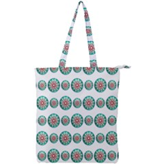 Christmas Decoration Colorful Double Zip Up Tote Bag