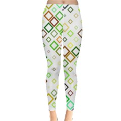 Square Colorful Geometric Leggings  by AnjaniArt