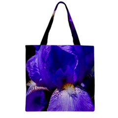 Zappwaits Flower Zipper Grocery Tote Bag