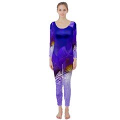 Zappwaits Flower Long Sleeve Catsuit