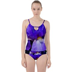Zappwaits Flower Cut Out Top Tankini Set