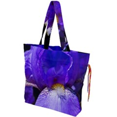 Zappwaits Flower Drawstring Tote Bag