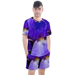 Zappwaits Flower Men s Mesh Tee and Shorts Set