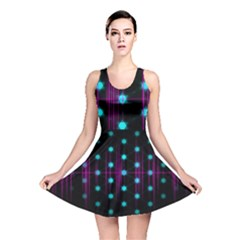 Sound Wave Frequency Reversible Skater Dress