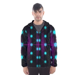 Sound Wave Frequency Men s Hooded Windbreaker